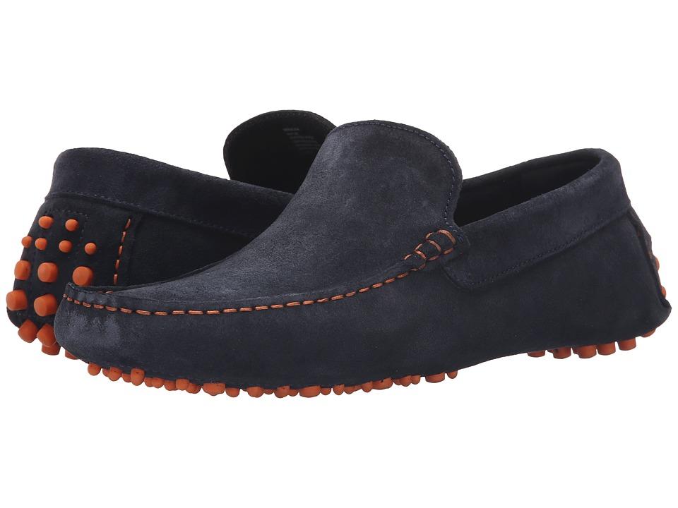 Dune London Bermuda Navy Suede Mens Slip on Shoes