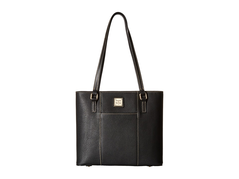 Dooney amp Bourke Pebble Leather New Colors Small Lexington Shopper Black/Black Tote Handbags