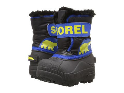 SOREL Kids Snow Commander (Toddler) - Black/Super Blue