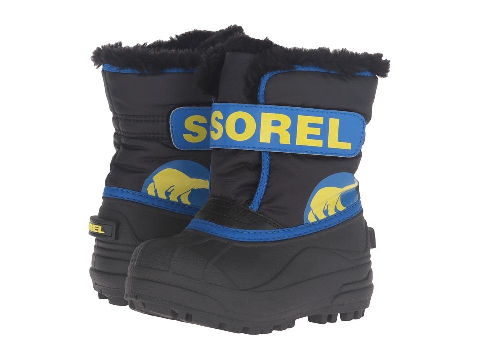 SOREL Kids - Snow Commander (Toddler/Little Kid) (Black/Super Blue) Boys Shoes
