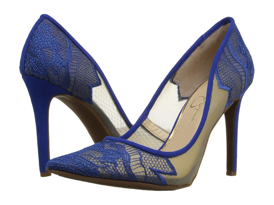 Jessica Simpson Camba Sheer Cobalt Blue High Heels