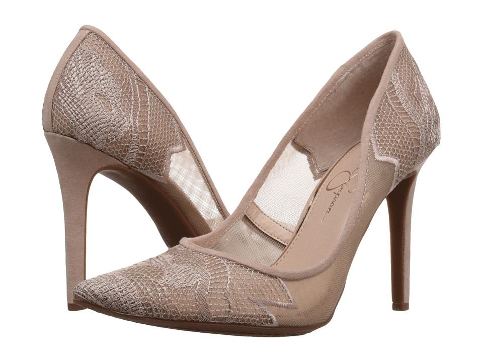 Jessica Simpson Camba Sheer Nude Blush High Heels