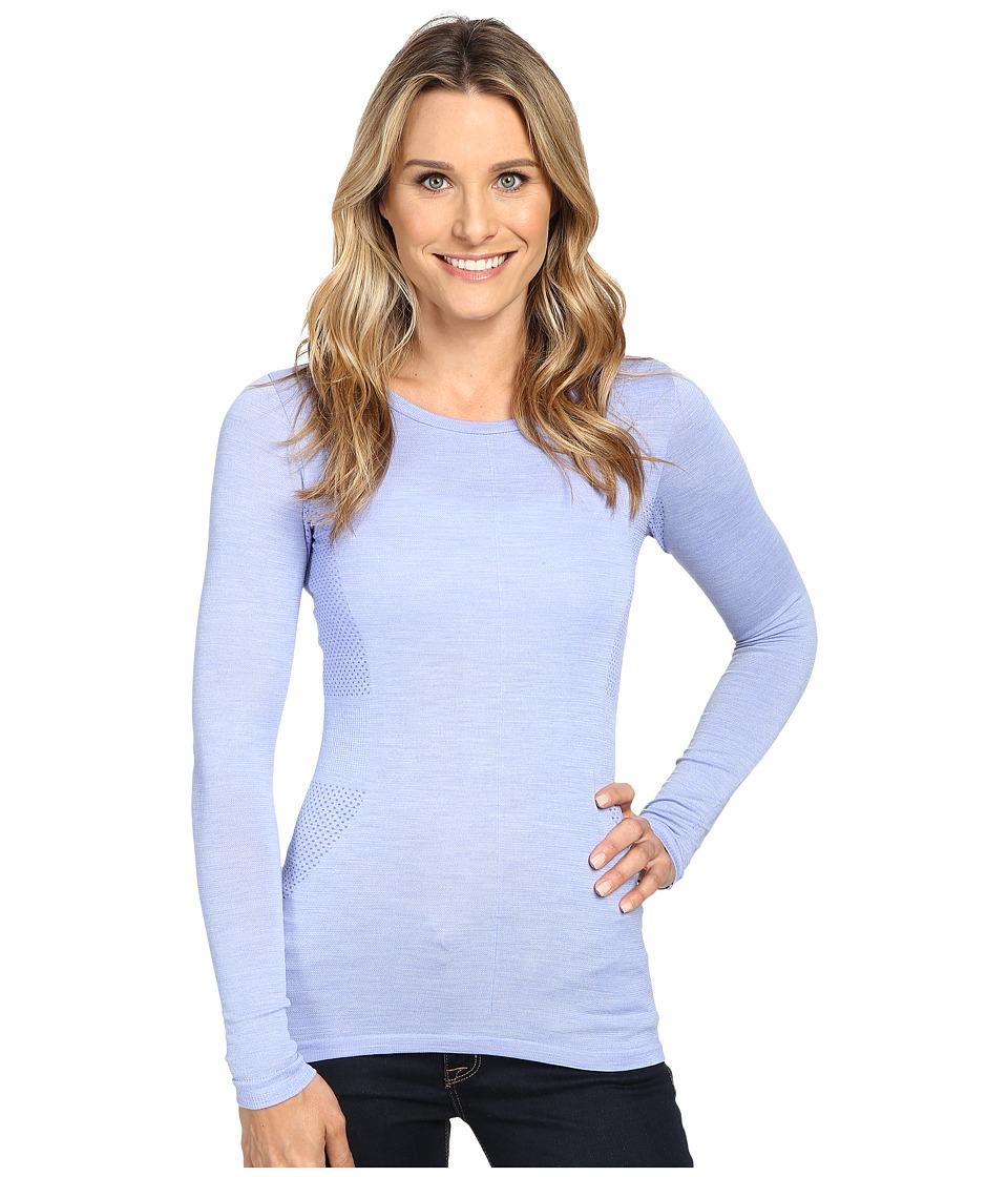 The North Face Long Sleeve Go Seamless Wool Top (Grapemist Blue Dark Heather) Women