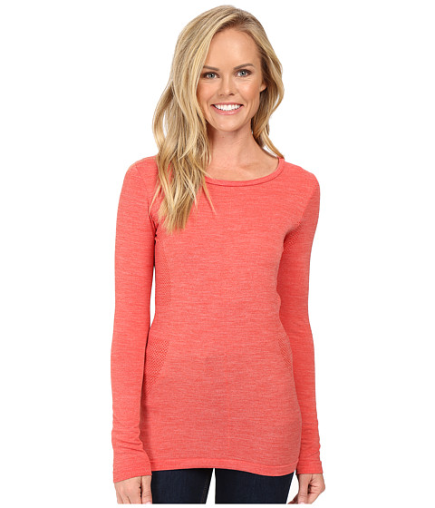 The North Face Long Sleeve Go Seamless Wool Top - High Risk Red Dark Heather