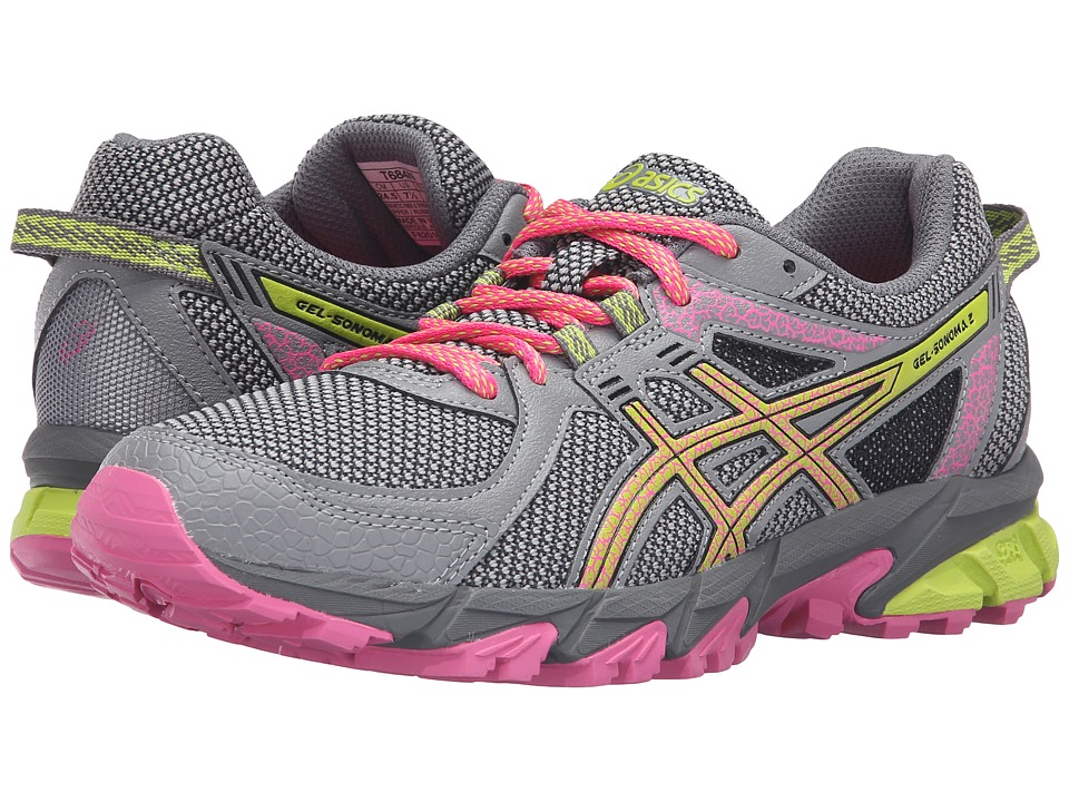 ASICS - GEL-Sonoma 2 (Aluminum/Neon Lime/Hot Pink) Women