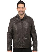 Tommy Hilfiger - Sherpa Lined Moto Jacket w/ Hood