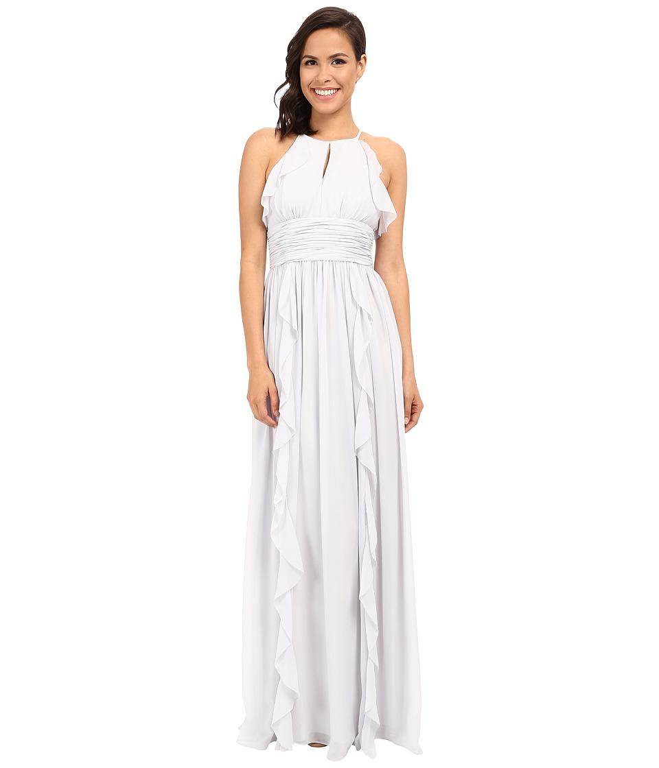 Donna Morgan - Skye Cutaway Halter Gown (Dove) Women's Dress