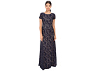 Donna Morgan Alice Cap Sleeve Dress (Indigo)