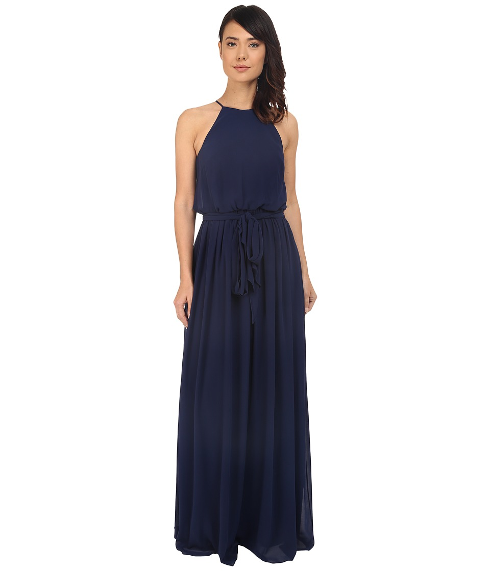 Donna Morgan Alana Drape Blouson Gown (Midnight) Women