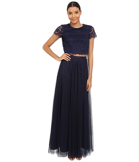 Donna Morgan Amelia Cap Sleeve Top w/ Tulle Skirt