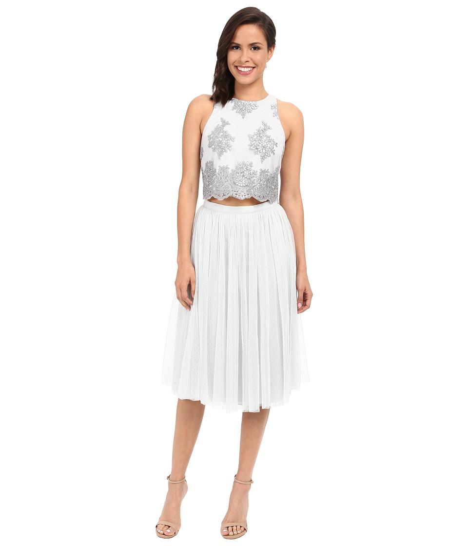 Donna Morgan Beatrix Lace Bodice w/ Skirt Whisper Womens Dress