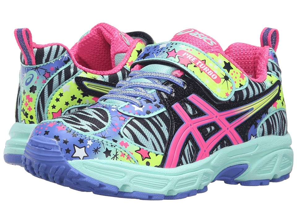 ASICS Kids - Pre-Turbo PS (Toddler/Little Kid) (Mint/Pink Glow/Black) Girls Shoes