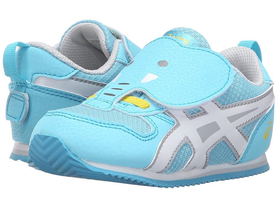 ASICS Kids - Animal Pack (Toddler) (Light Blue/White/Yellow) Girls Shoes