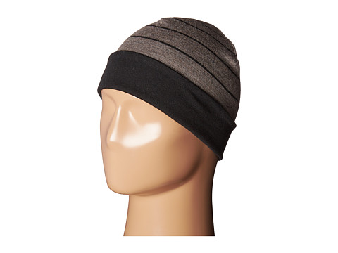 Smartwool NTS Mid 250 Reversible Pattern Cuffed Beanie - Black/Taupe Heather