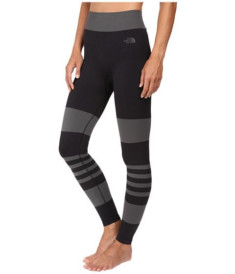 the north face secondskin leggings tnf black graphite grey   6pm