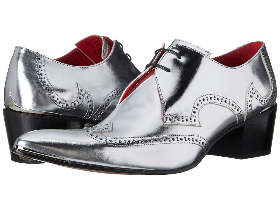 Jeffery West Arrow Wing Gibson Matte Silver Mens Shoes
