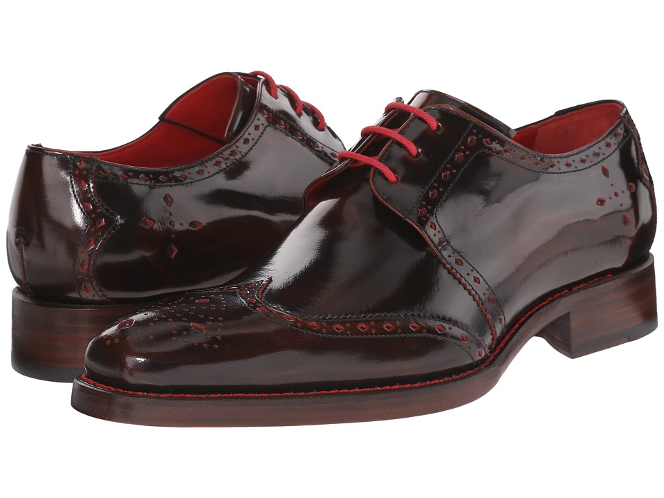 Jeffery West Cut Through Gibson Espresso Brown/Red Mens Shoes