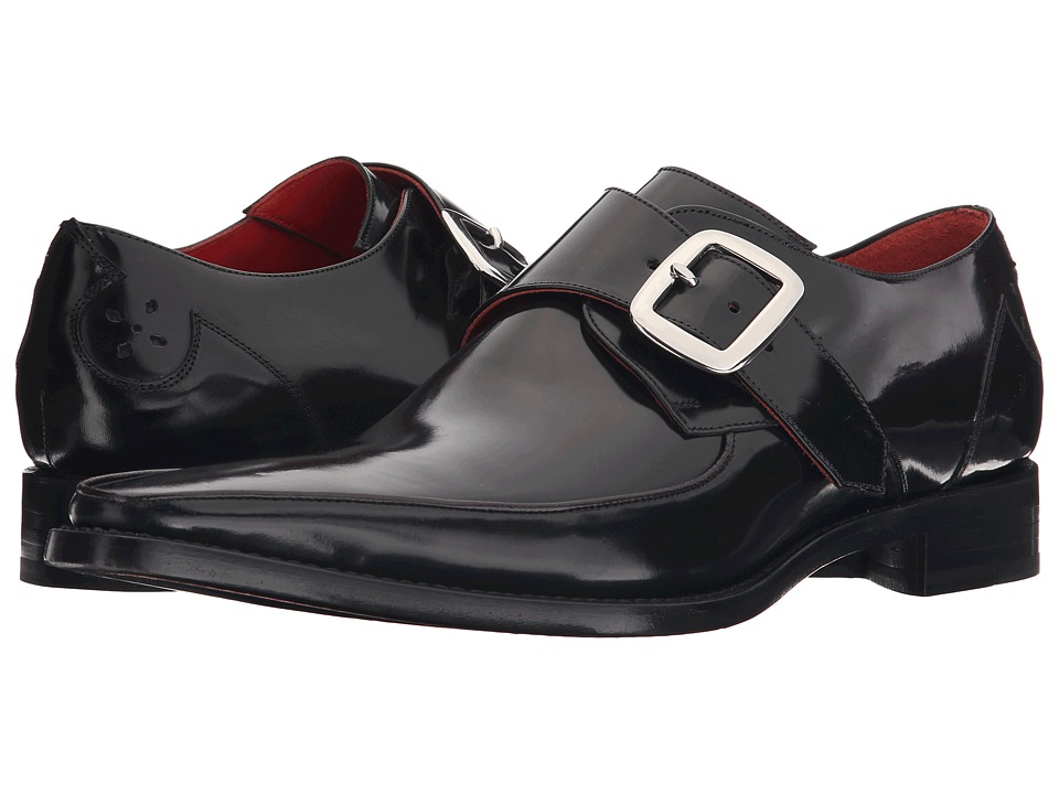 Jeffery West Apron Monk Black Antique Mens Shoes