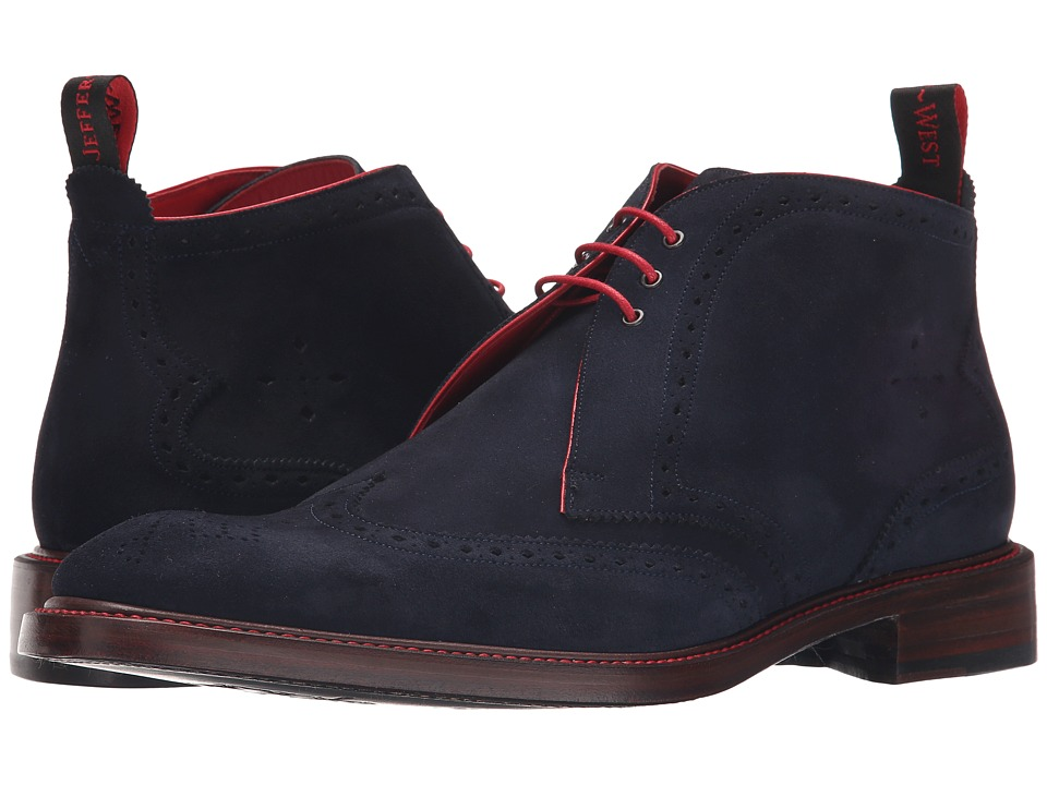 Jeffery West Wing Chukka Navy Suede Mens Boots