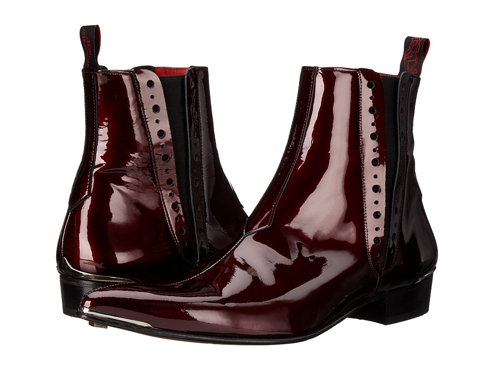 Jeffery West Chelsea Boot Charcoal Metal/Wine Mens Boots