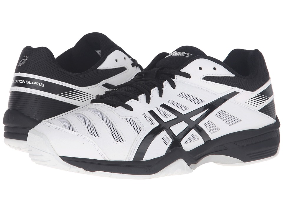 ASICS Gel-Solution Slam 3 (White/Black/Silver) Men