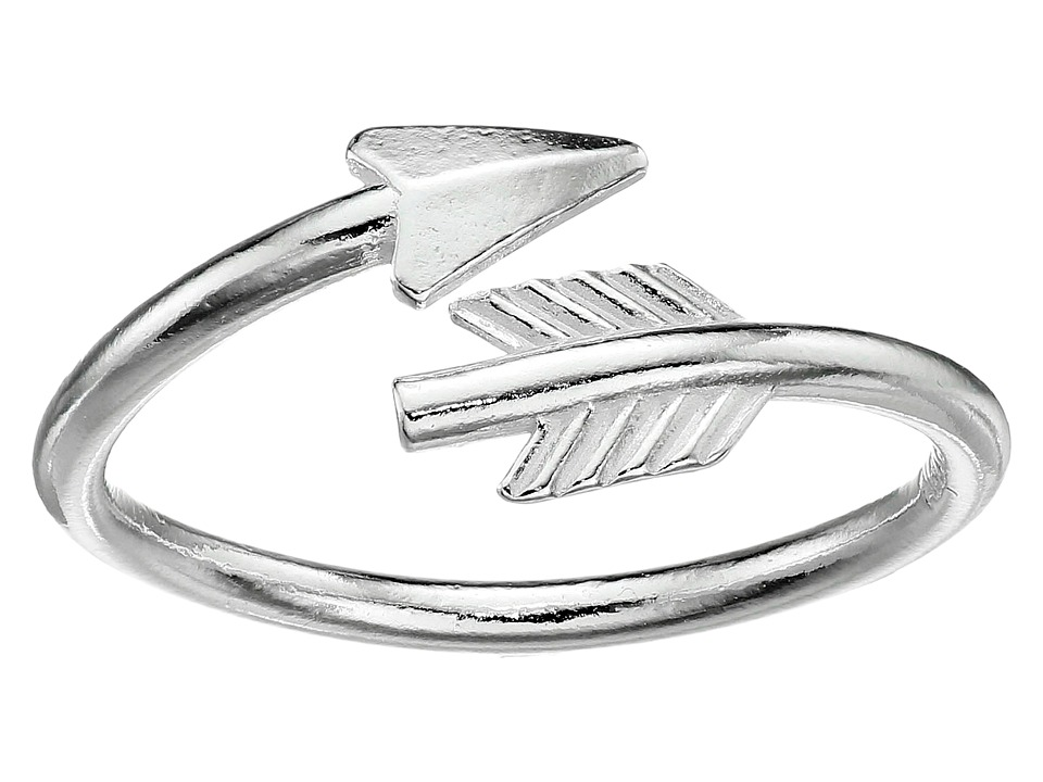 Alex and Ani - Love Struck Arrow Wrap Ring (Silver) Ring