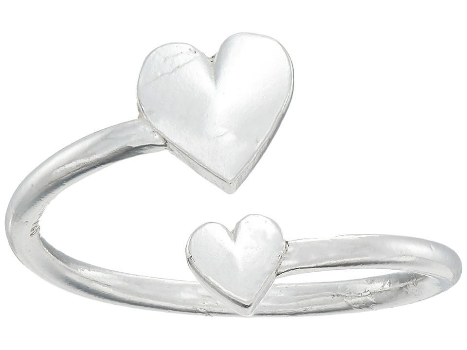 Alex and Ani - Romance Heart Wrap Ring (Silver) Ring
