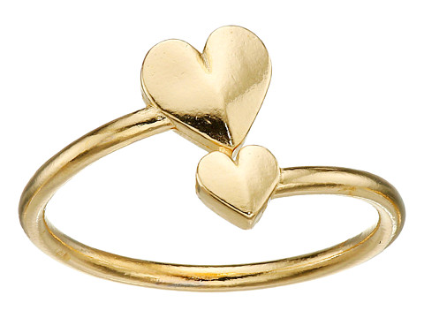 Alex and Ani Romance Heart Wrap Ring - Gold