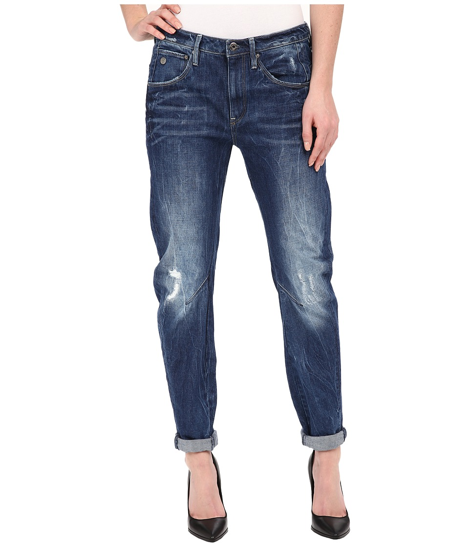 G Star Arc 3D Low Boyfriend Jeans in Watton Denim Medium Aged Destroy Womens Jeans