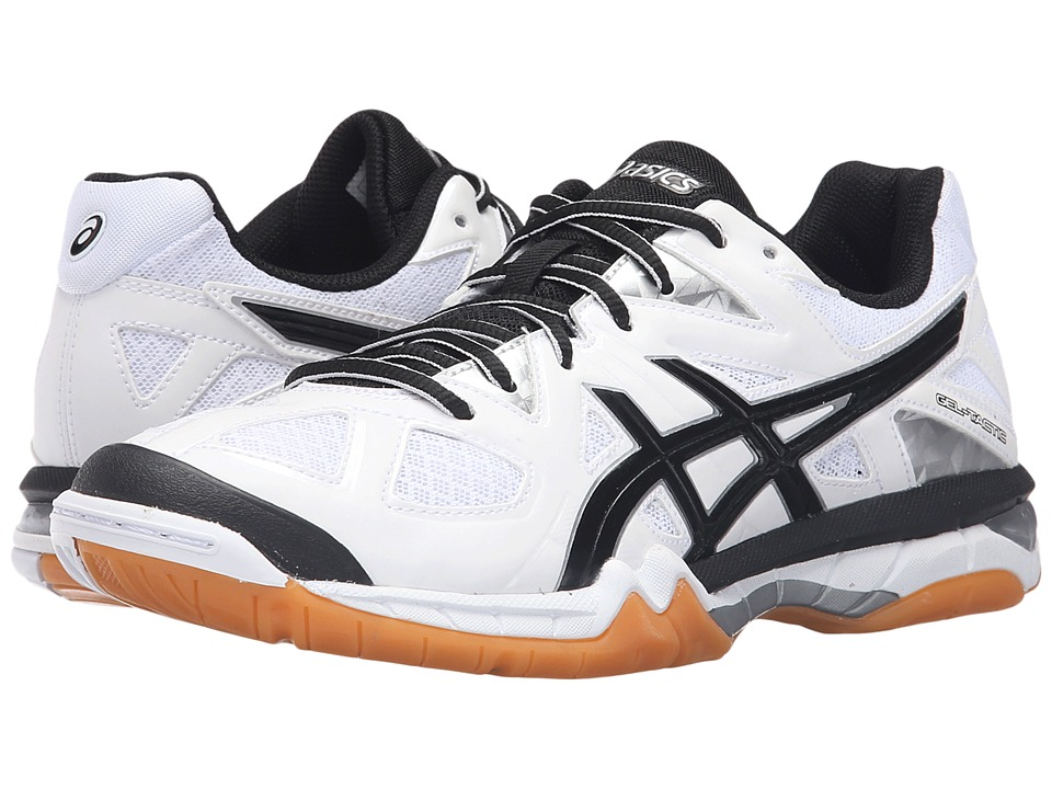 ASICS - GEL-Tactic (White/Black/Silver) Womens Volleyball Shoes