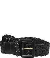 Cole Haan - 40mm Braided Veg Leather Belt with Covered Harness Buckle