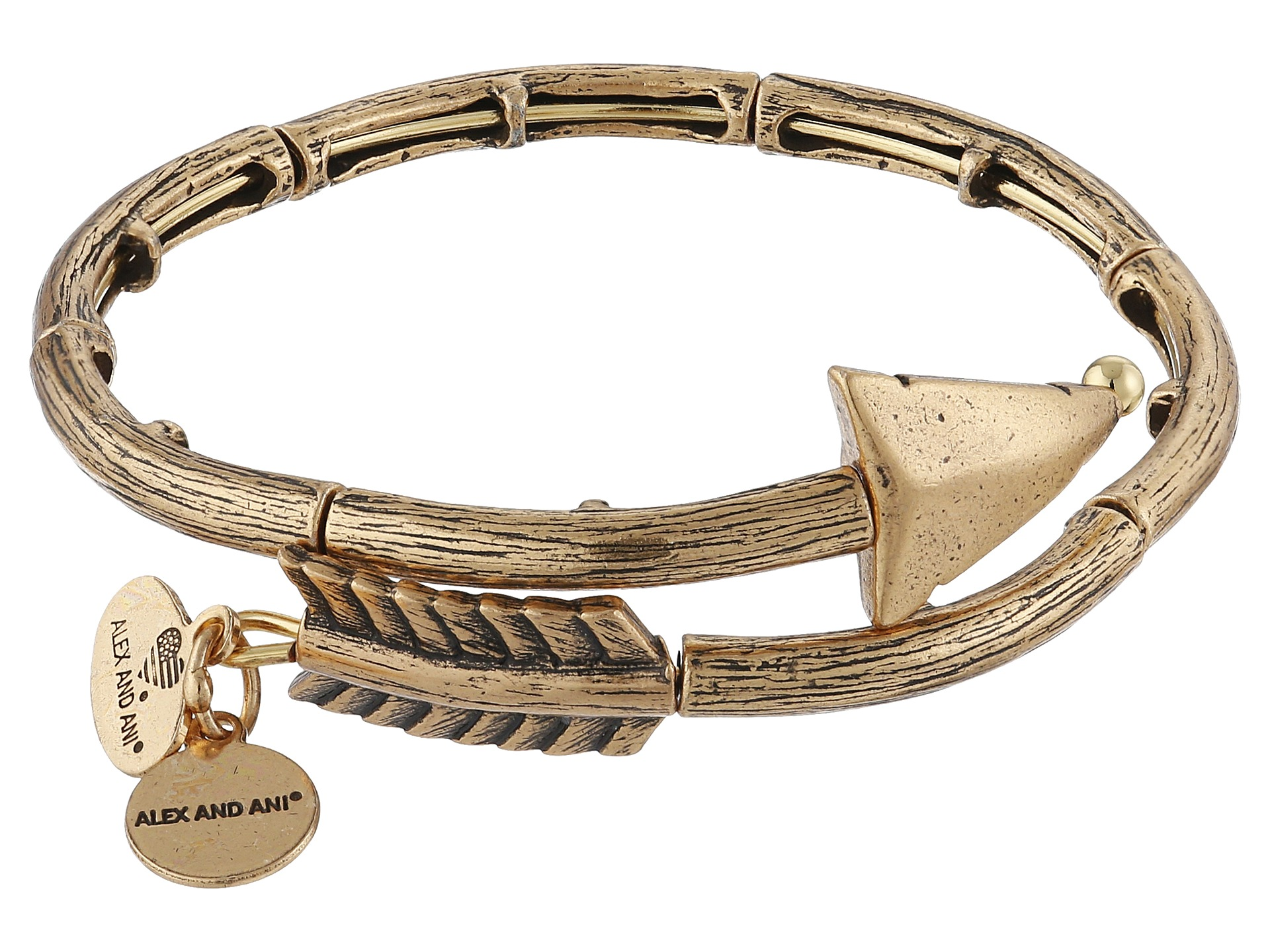 Alex and ani love struck arrow wrap bracelet gold zappos com free