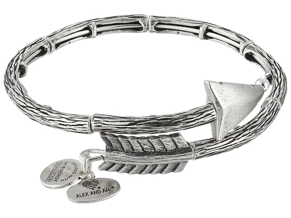 Alex and Ani Love Struck Arrow Wrap Bracelet Silver Bracelet