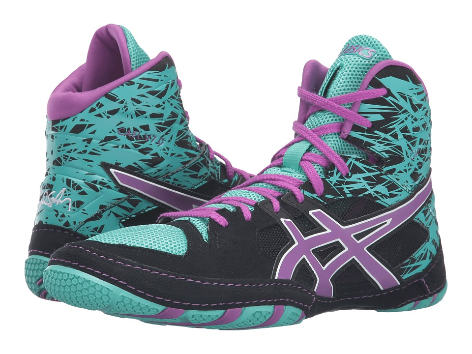 ASICS Cael(r) V7.0 (Black/Orchid/Turquoise) Men