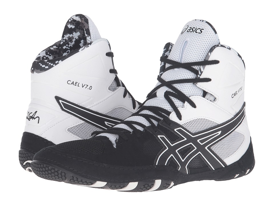 Asics Cael(r) V7.0 (Black/Onyx/White) Men's Wrestling Shoes