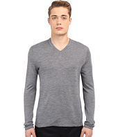 Vince - Wool Silk Long Sleeve Jersey V-Neck