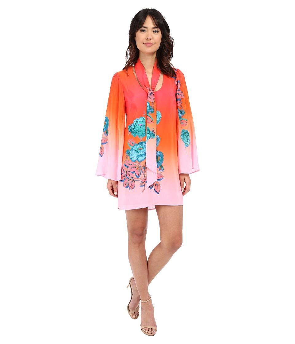 Nanette Lepore Neon Nights Frock Coral Multi Womens Dress