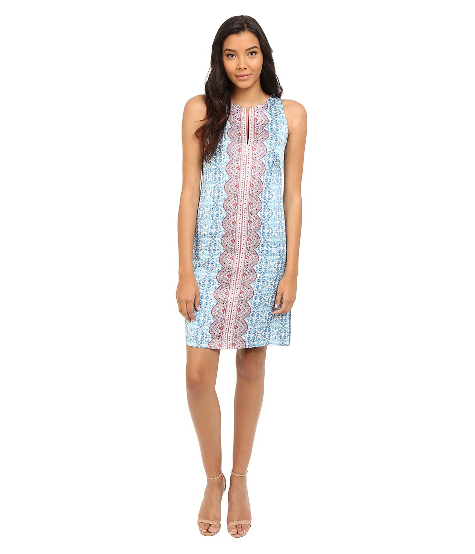 Nanette Lepore Pretty Porcelain Dress Light Blue Multi Womens Dress