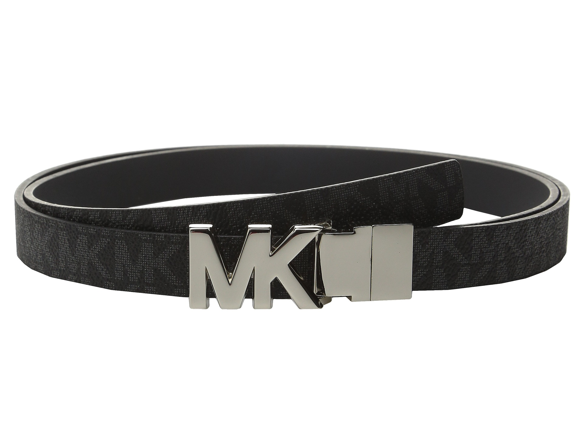 michael michael kors 20mm reversible logo pvc to smooth belt on mk plaque buckle at. Black Bedroom Furniture Sets. Home Design Ideas
