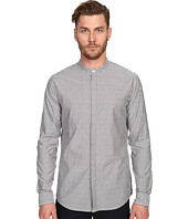 Vince - Bar Stripe Banded Collar Long Sleeve Relaxed Shirt