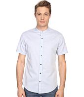 Vince - Melange Banded Collar Short Sleeve Melrose Shirt