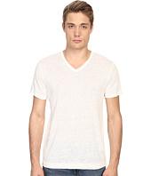 Vince - Linen Jersey Short Sleeve V-Neck
