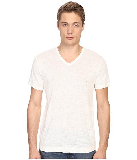 Vince Linen Jersey Short Sleeve V-Neck