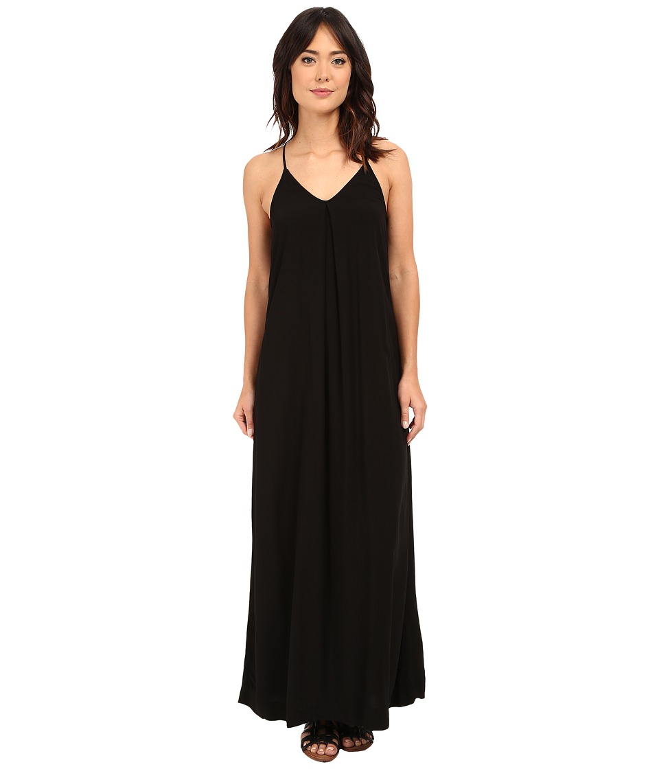 Michael Stars Modern Rayon Maxi Slip Dress (Black) Women