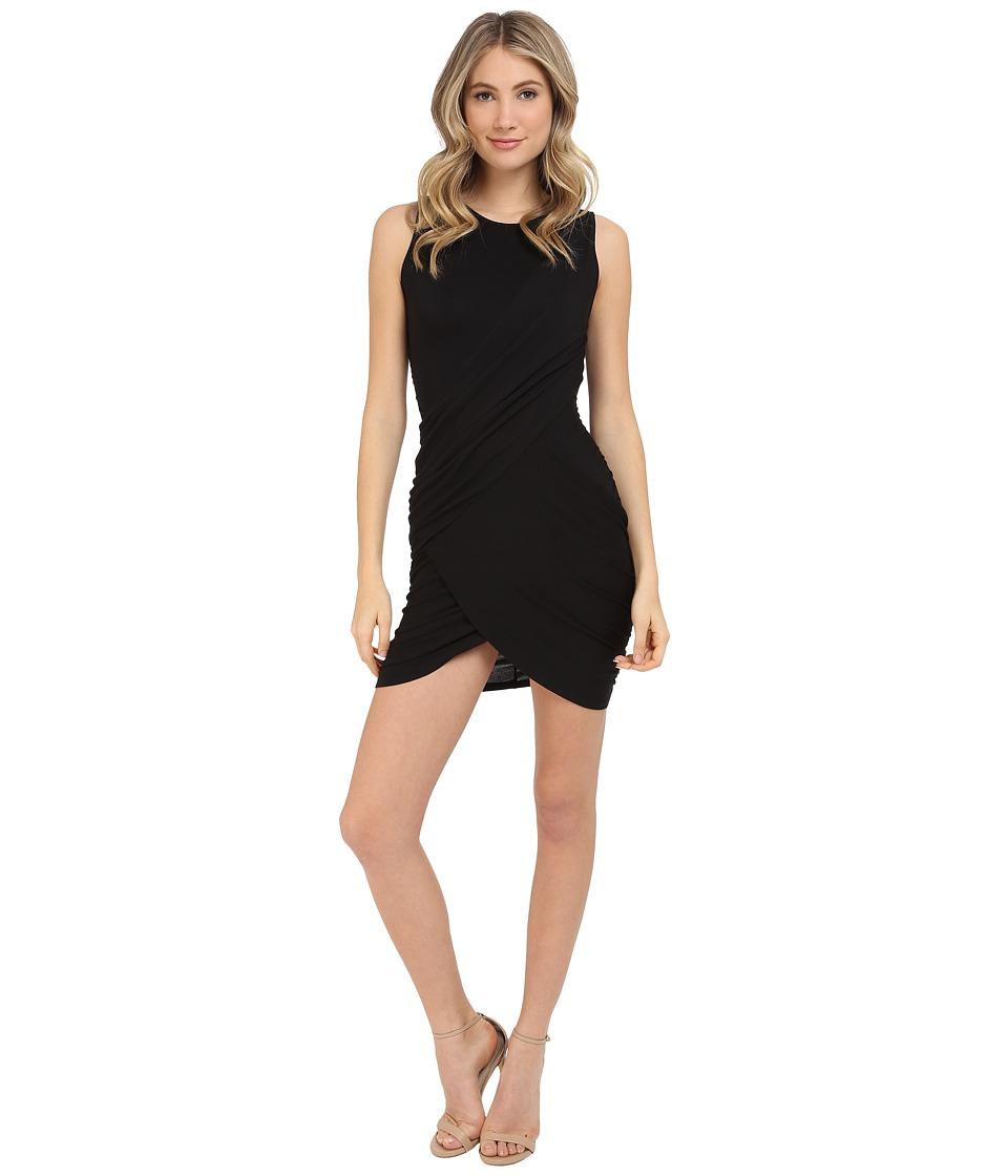 Michael Stars Crew Neck Bodycon Dress Black Womens Dress