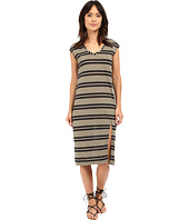 Michael Stars - Montauk Stripe Midi Dress w/ Slit