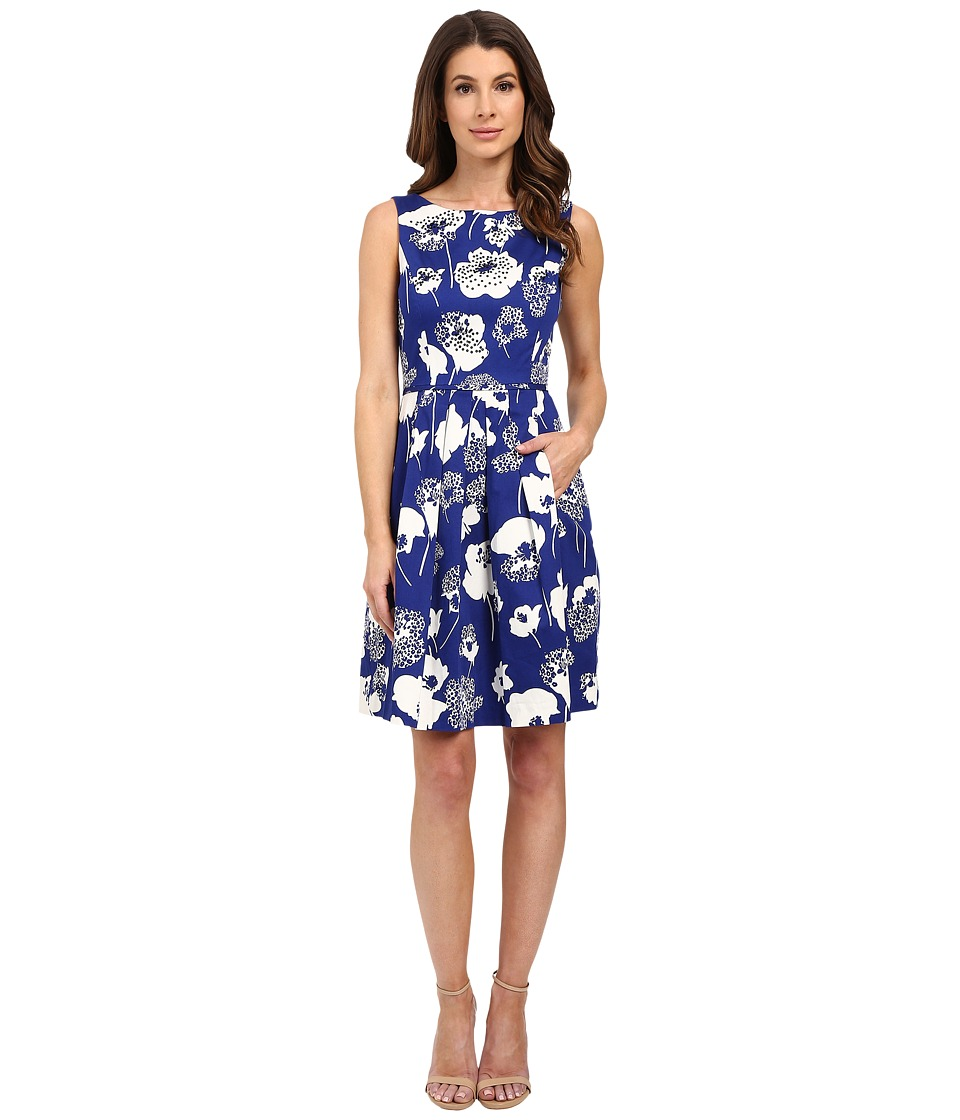 Tahari by ASL Briana V Dress Blue/Ivory Womens Dress