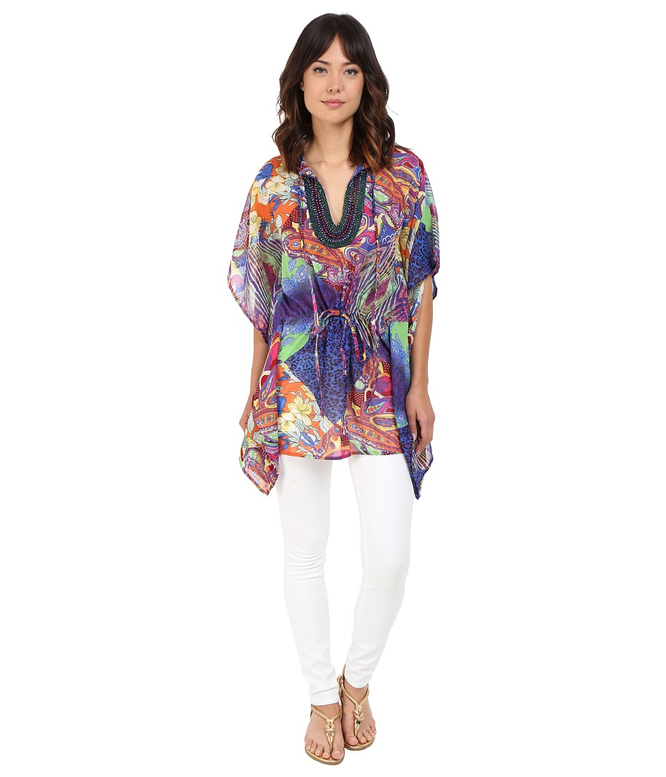 CATHERINE Catherine Malandrino Cleo Blouse Jungle Tile Womens Blouse