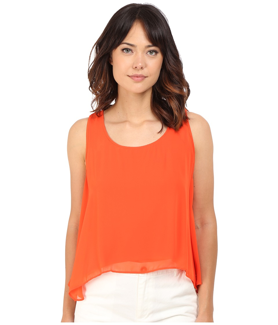 CATHERINE Catherine Malandrino Cosma Top Orange Snapdragon Womens Sleeveless
