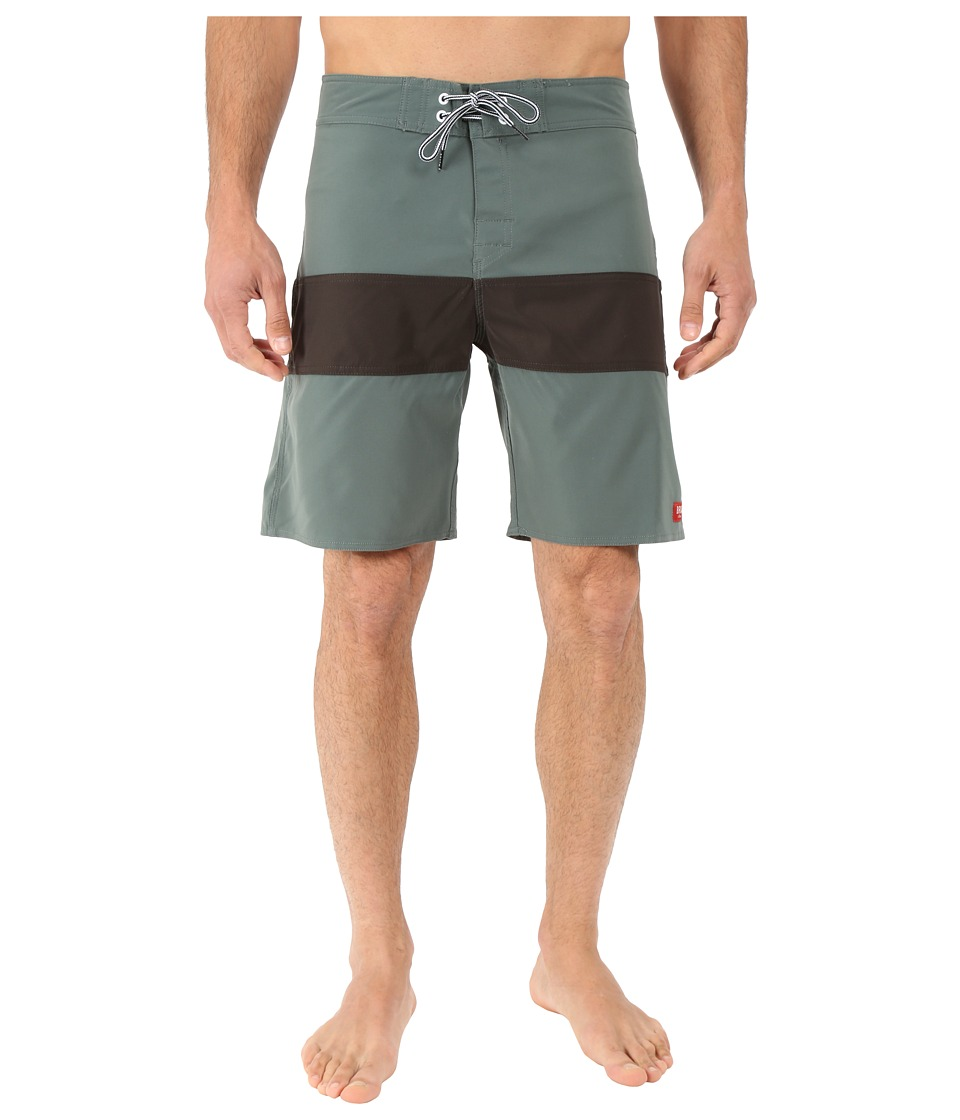 Brixton Barge Trunks Green Mens Swimwear